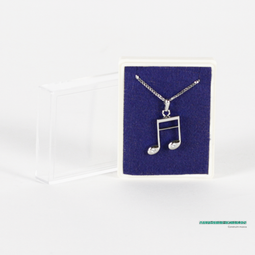 Pendant silvered semiquavers