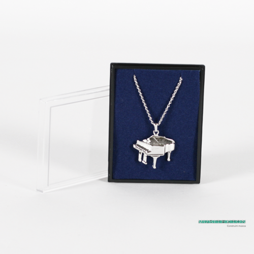 Pendant silvered 3D piano
