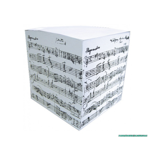 Cubic notepad music sheet