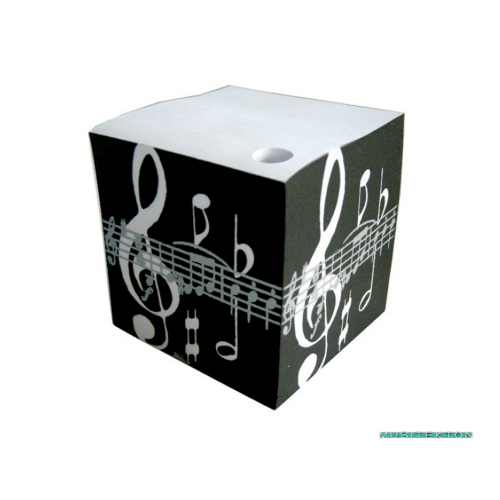Cubic notepad treble clef