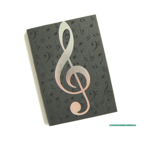 Notebook A6 treble clef
