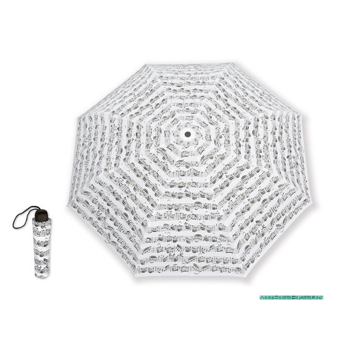 Small white umbrella with notes