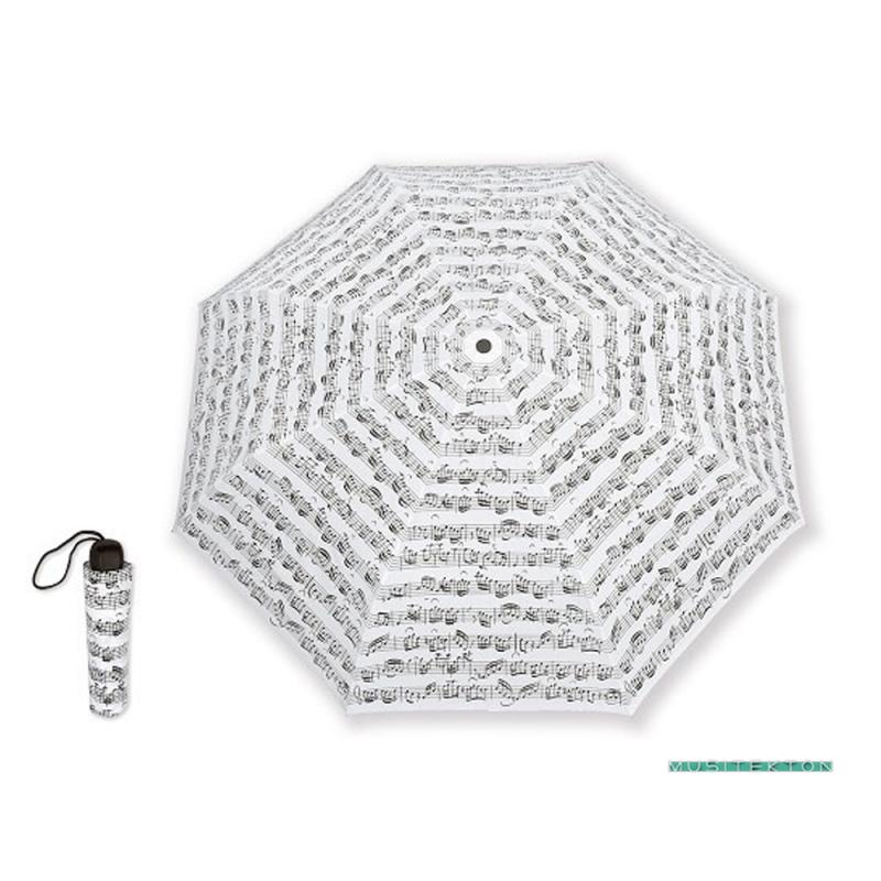 Paraguas mini Blanco Notas