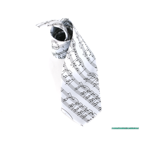 Tie grey music sheet