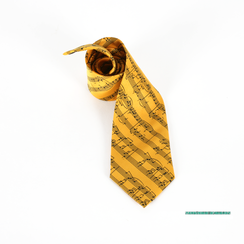 Tie yellow music sheet