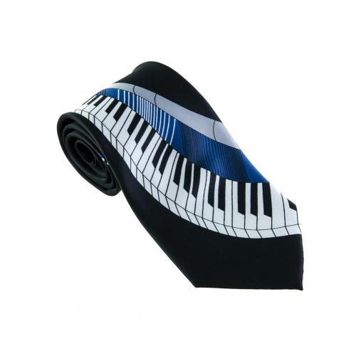 Corbata negra teclado