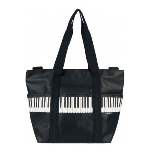 Bolsa asa al hombro negra teclas piano