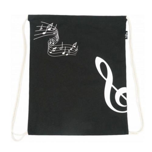 Backpack bag black treble clef B-3023
