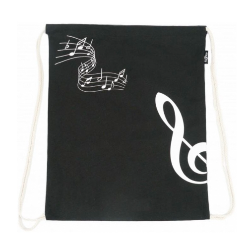 Backpack bag black treble clef B-3023