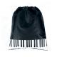 Bolsa tipo saco negra teclas piano