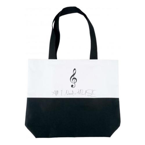 Bolsa asa tipo bolso negra y blanca