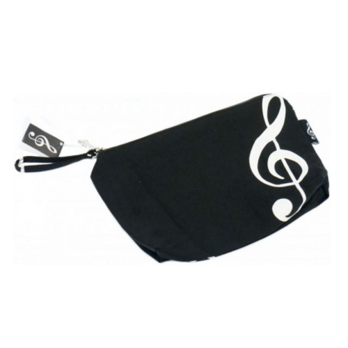 Handbag black treble clef B-3017