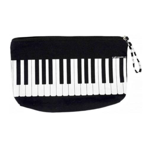 Estuche multiusos negro teclado B-3018