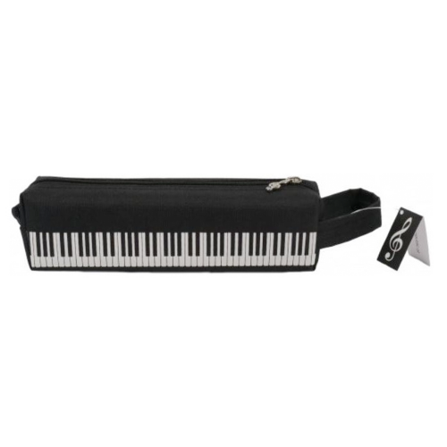 Plumier cuadrado negro teclado P-1027