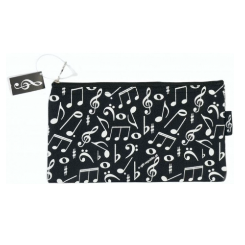 Pencil bag black white music symbols P-1025