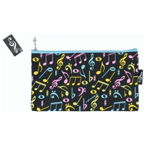 Pencil bag black colored notes P-1026