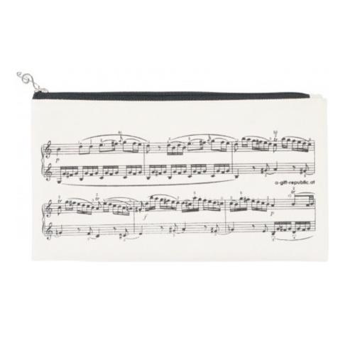 Pencil bag beige sheet music P-1028