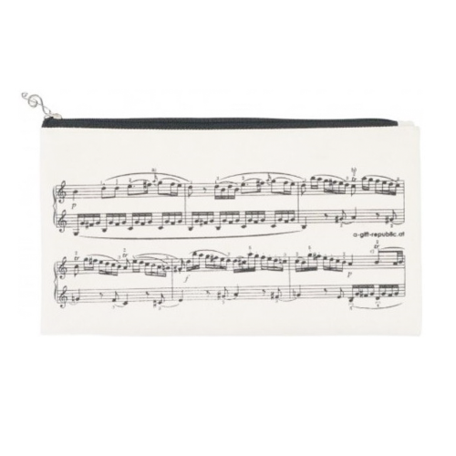 Pencil bag beige sheet music P-1028