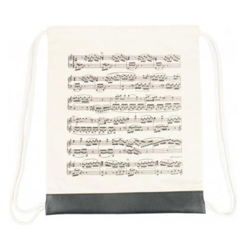 Backpack bag beige music sheet B-3047