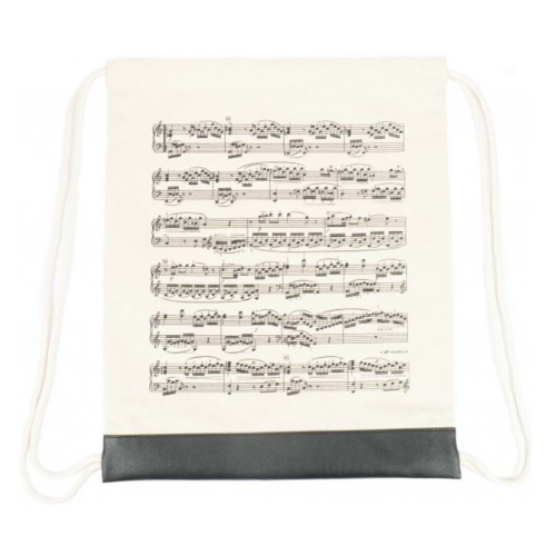 Backpack bag beige music sheet B-3047