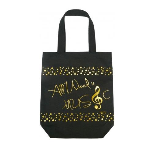 Bag black golden B-3044