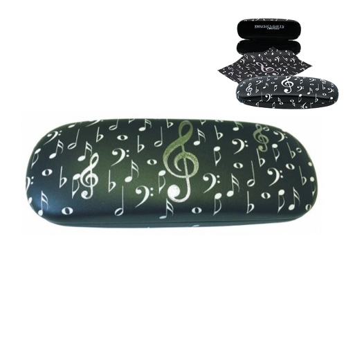 Eyeglass case treble clef