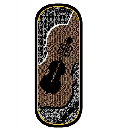 Cubre violín de seda Bam France