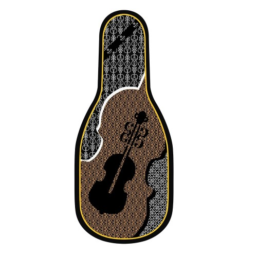 Silk padded bag for violin Bam France