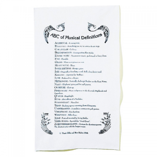 Tea towel definicions musicals