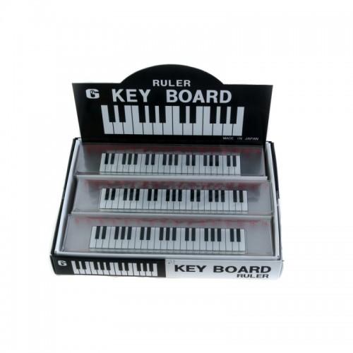 Regla 15 cm transparente teclado