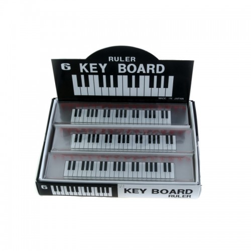 Ruler 15 cm transparent keyboard