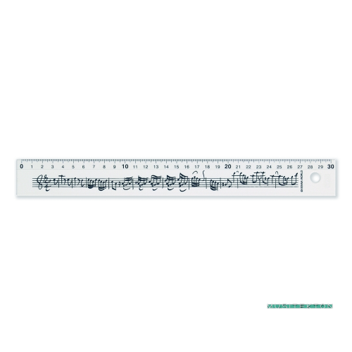 Regla 30 cm partitura Bach