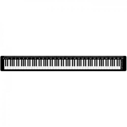 Regla 30 cm teclado