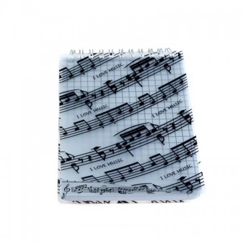 Notebook spiral A6 music