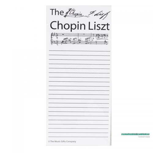 Spare shopping list sheets Chopin Liszt