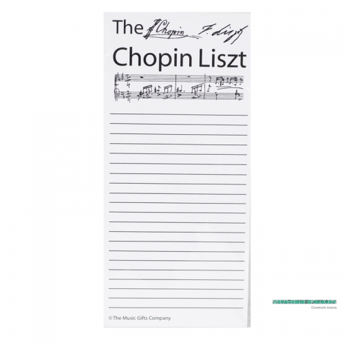 Spare shopping list sheets Chopin Liszt